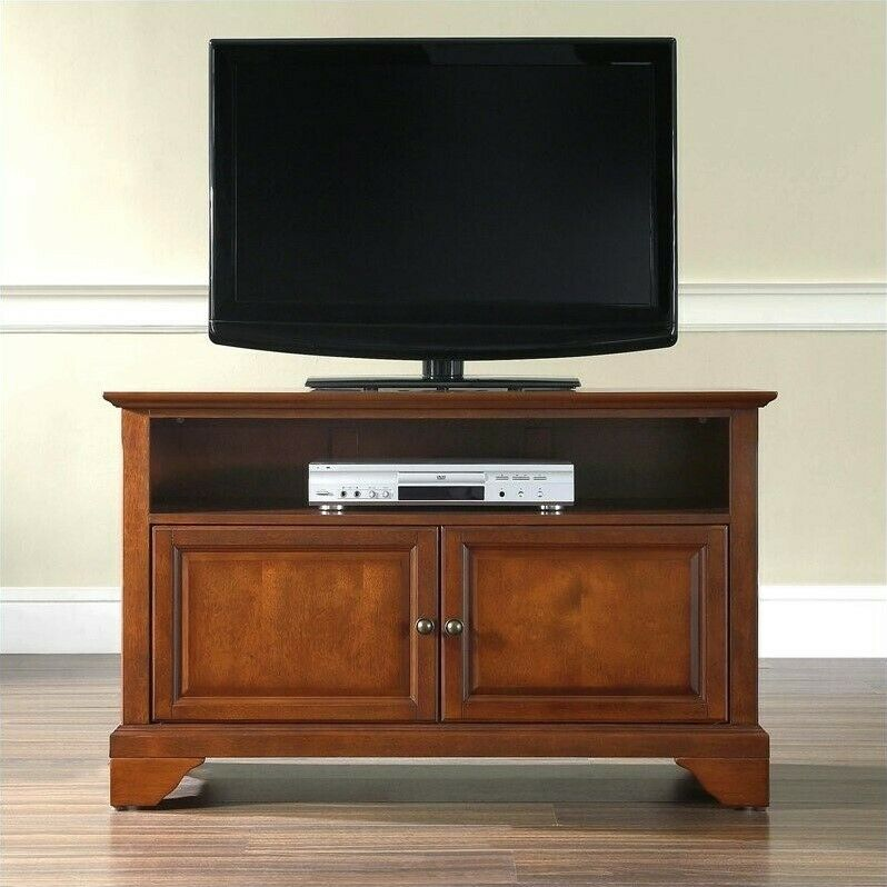 entertainment center cabinet tv stand lafayette 42 in classic cherry finish ebay. Black Bedroom Furniture Sets. Home Design Ideas