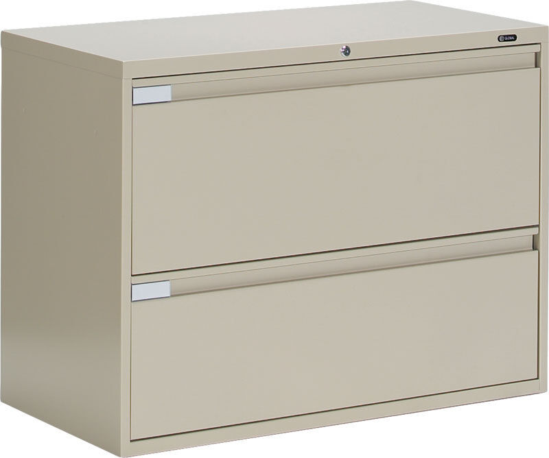 Global metal drawer office lateral file cabinet quot wide