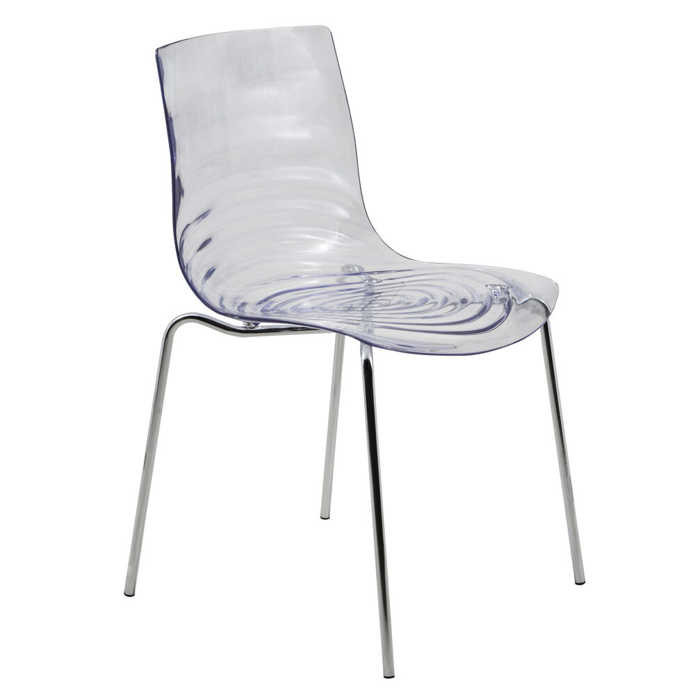 Astor Polycarbonate Modern Dining Chair In Clear Ebay