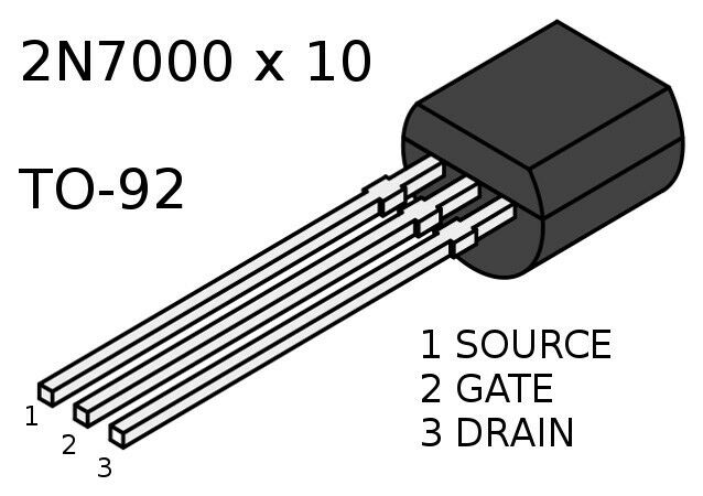 2n7000 fast switch n channel mosfet to