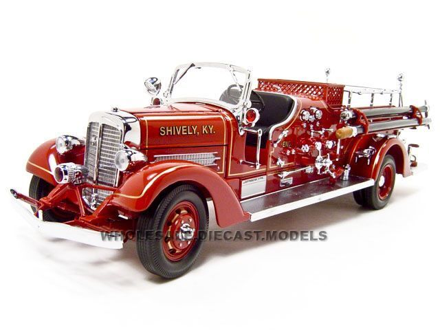 ahrens fox vc fire engine truck red waccessories  road signature  ebay
