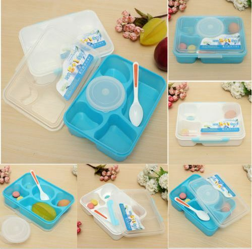bento lunch box spoon utensils food storage containers microwave oven box n. Black Bedroom Furniture Sets. Home Design Ideas