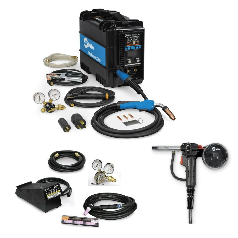 miller tig welder miller multimatic 200 multiprocess welder tig kit spoolgun 907518