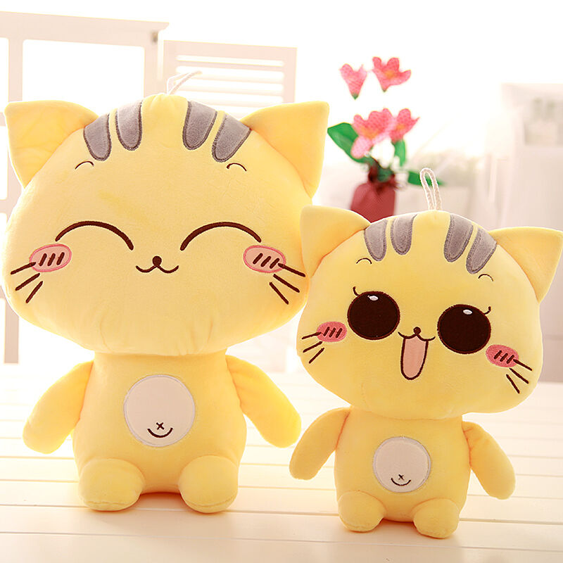 Soft Toys Cartoon : Cute cartoon cat pillow cushion soft plush stuffed toy