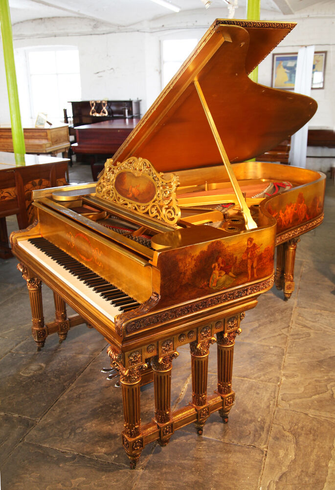 An 1886, Rococo style, Steinway Model B grand piano with a ...