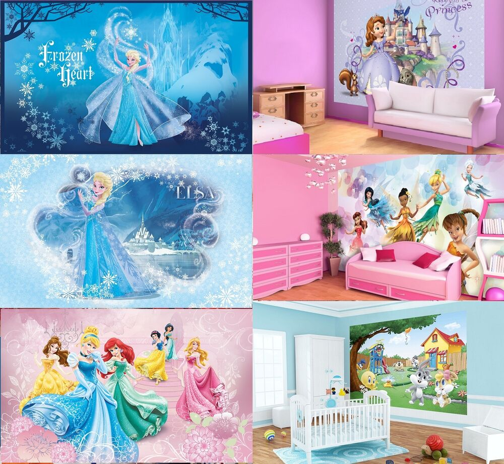 foto wandbild tapete kinderzimmer disney frozen prinzessin elsa ariel m dchen ebay. Black Bedroom Furniture Sets. Home Design Ideas