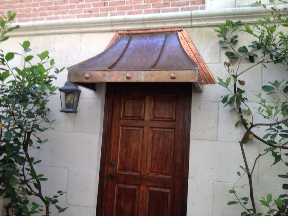 cypress sweep copper awning 48 quot w x 24 quot d x 28 quot h ebay