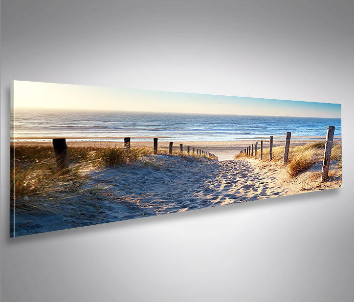 weg zum meer nordsee strand panorama format bild auf leinwand wandbild poster ebay. Black Bedroom Furniture Sets. Home Design Ideas