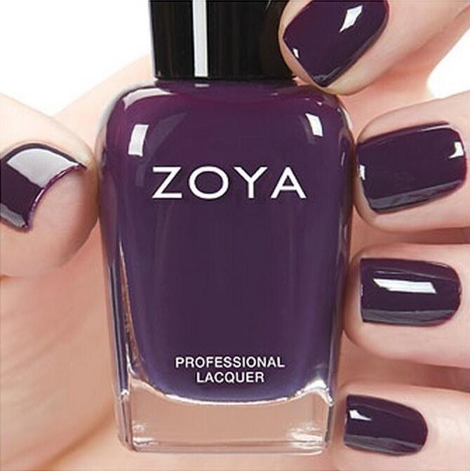 Zoya Zp803 Lidia Eggplant Purple Cream Nail Polish Focus Fall 2015 Coll New Ebay