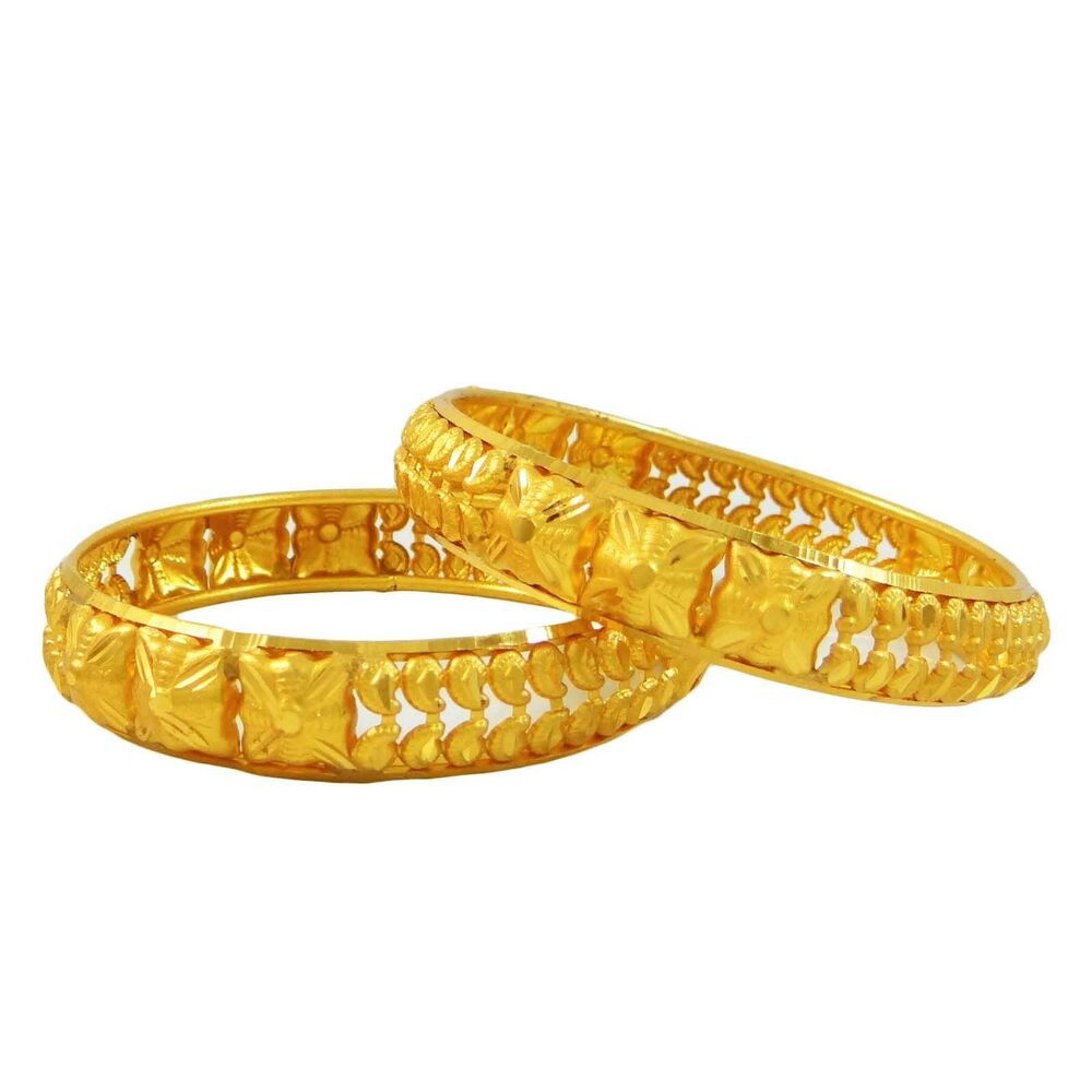 Indian Bollywood Bridal Gold Plated Bangles Set ...