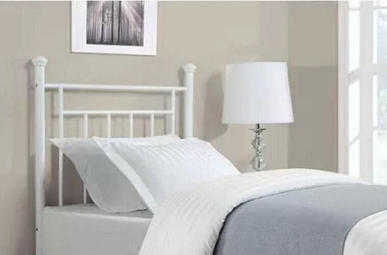 White metal twin headboard contemporary bedroom furniture for White metal twin bed frame