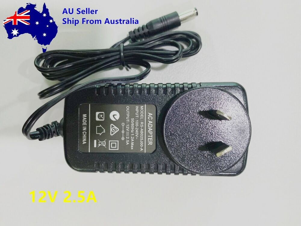 12v 2a ac dc power supply cord 2 amp 12 volt adapter charger au stock ebay. Black Bedroom Furniture Sets. Home Design Ideas