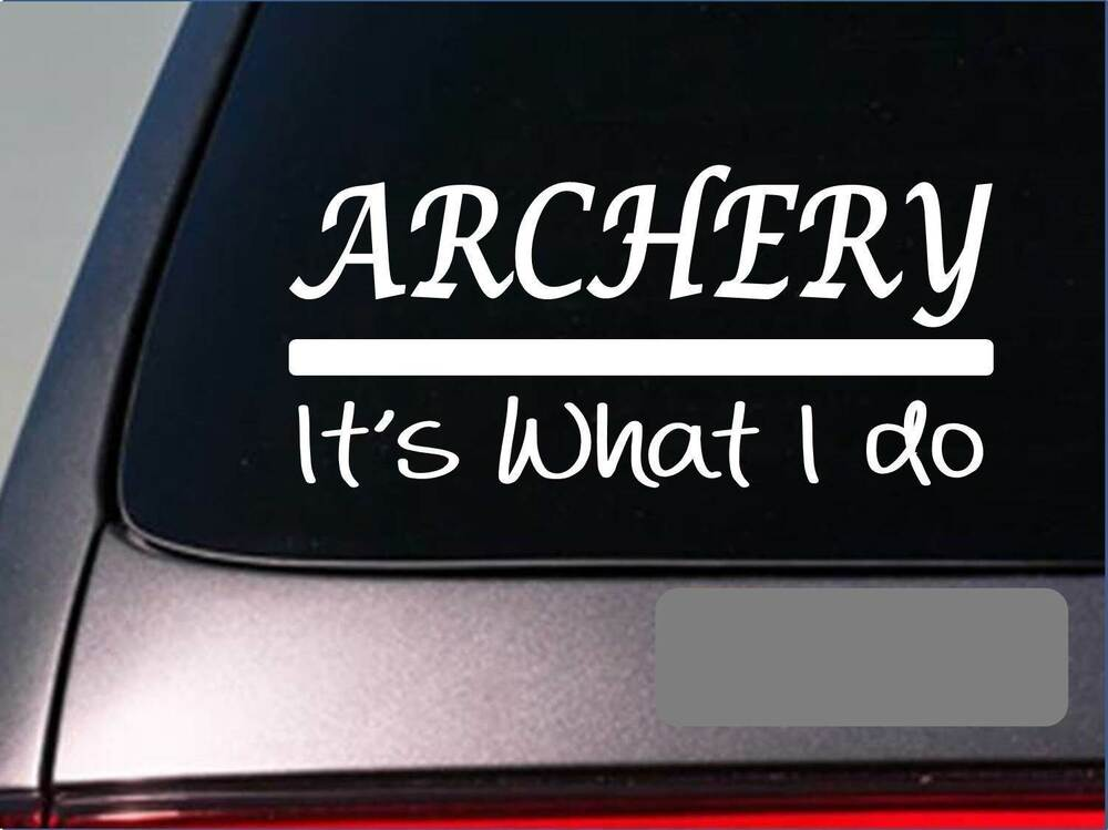 Archery Sticker Decal E262 Bow Arrow Broadhead Target