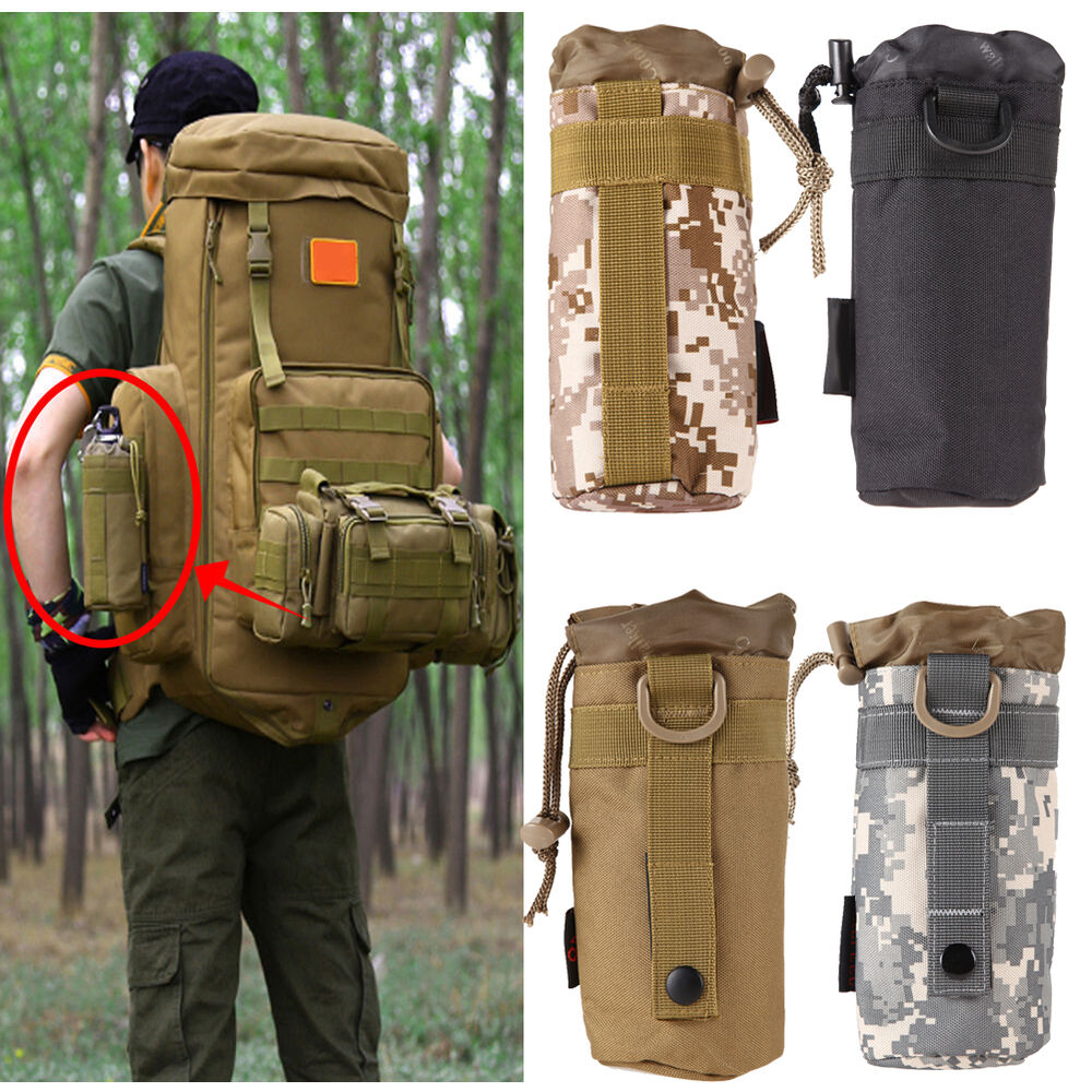 Outdoor Tactical Military Molle System Water Bottle Bag ...