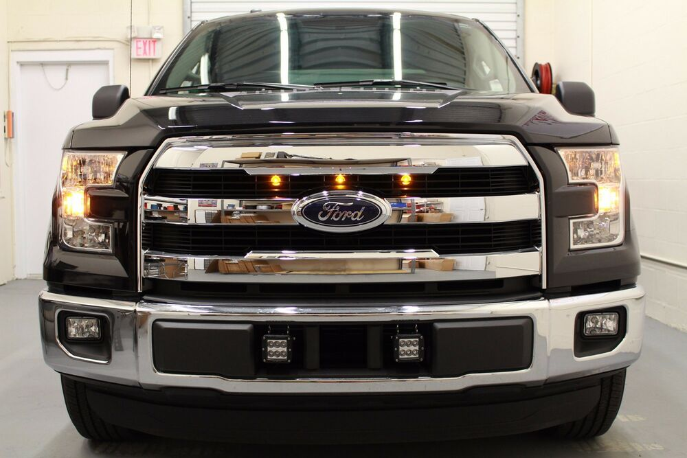 2015 2016 ford f 150 raptor style led amber grille lights. Black Bedroom Furniture Sets. Home Design Ideas