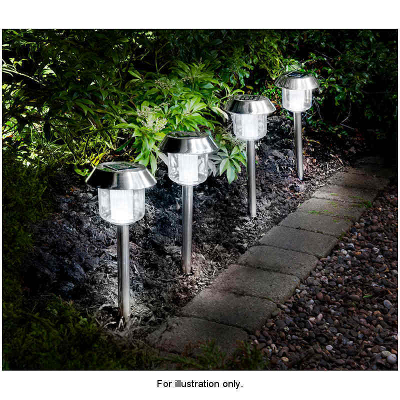 new large 5 dia stainless steel outdoor party white led solar light