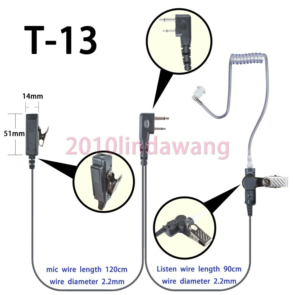 2 wire headset earphone mic for icom ic f3001 ic f4001 portable radio ebay