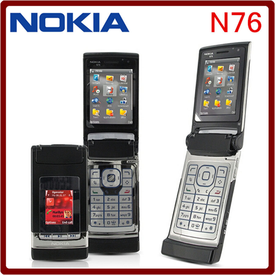 NOKIA N76 GSM 3 COLOR 2MP BLUETOOTH SYMBIAN UNLOCKED FLIP ...