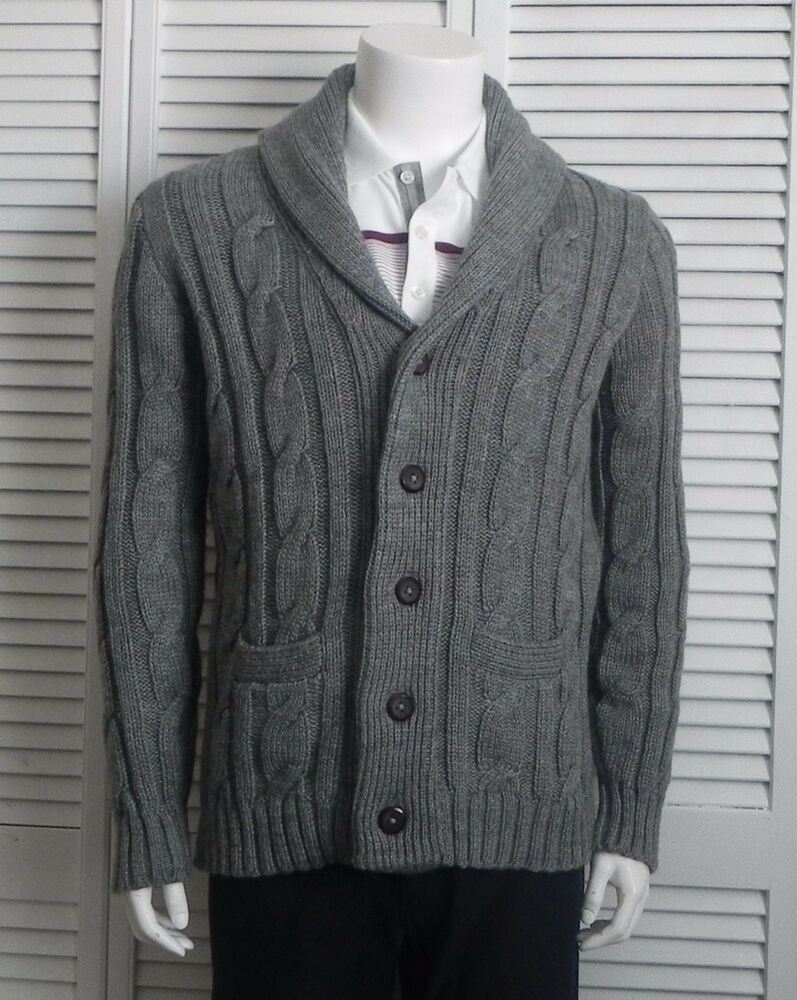 Men's Shawl Collar Cardigan Sweaters. invalid category id. Men's Shawl Collar Cardigan Sweaters. Showing 48 of results that match your query. Search Product Result. Product - Club Room Mens Cable Knit Sweater Medium Shawl Collar Brown. Product Image. Price $ Product Title.