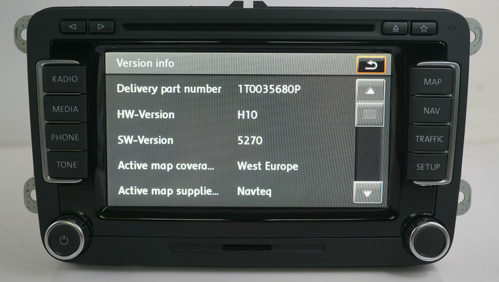 genuine vw rns 510 led version p sat nav dvd mp3. Black Bedroom Furniture Sets. Home Design Ideas