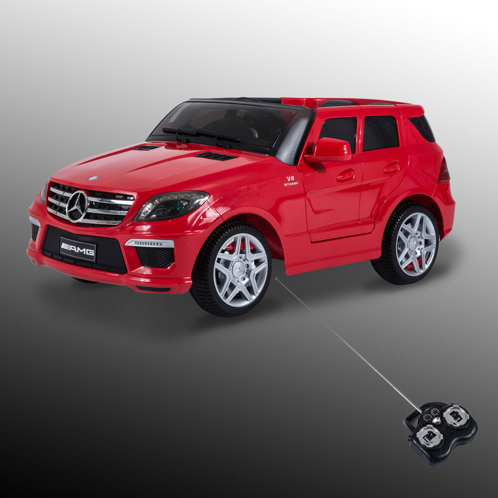 12v mercedes benz ml63 amg kids ride on car electric toy w for Mercedes benz toy car ride on