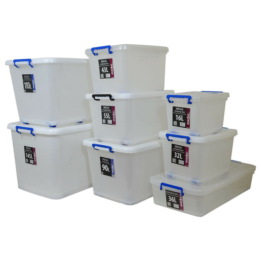 Plastic Storage Box Clear Boxes With Lids Clip Locking
