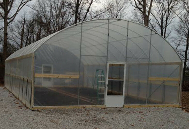 24 x 96 ft high sidewall greenhouse high tunnel kit cold frame package ebay - Commercial Greenhouse Kits