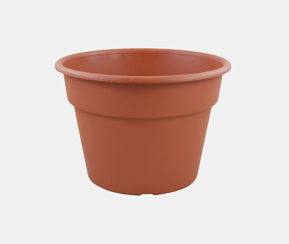 10 Inch Clay Color Pots - Flower Garden Plastic Plant Pot ...