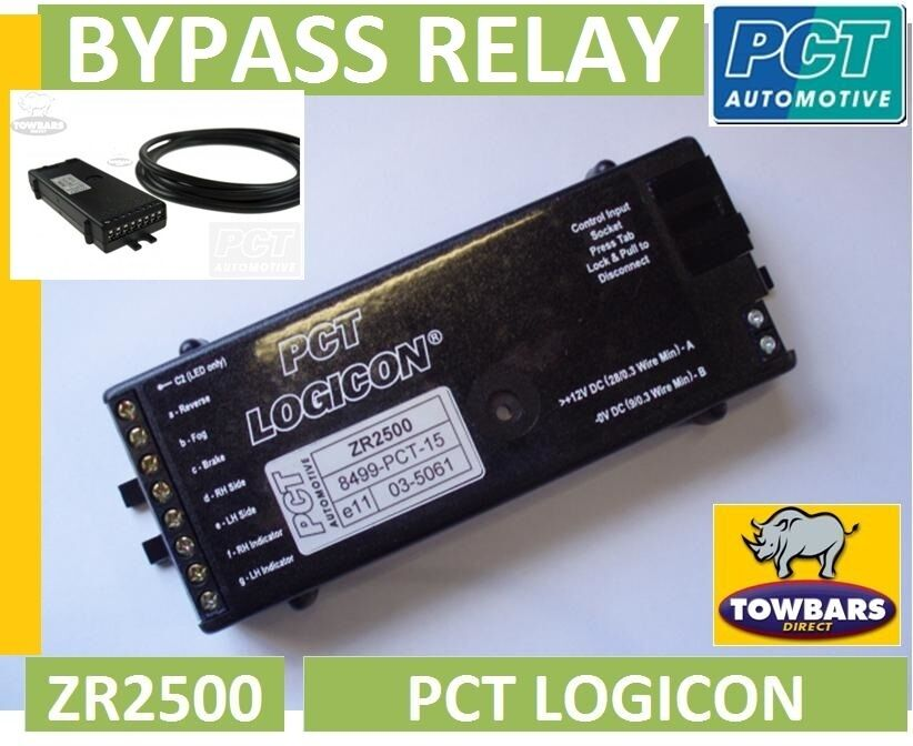 Towing Bypass  Interface  Relay Pct Logicon Zr2500 7 Way Universal Smart Relay