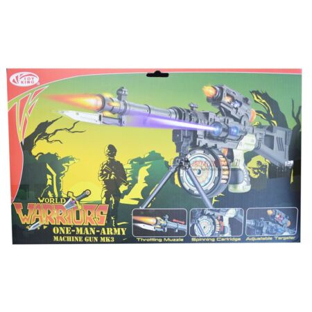 img-New Kids Realistic Super One Man Army Machine Gun Soldier Warrior Lights Sound