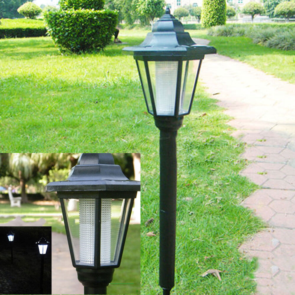 Outdoor garden led solar powered light path yard landscape for Led yard lights