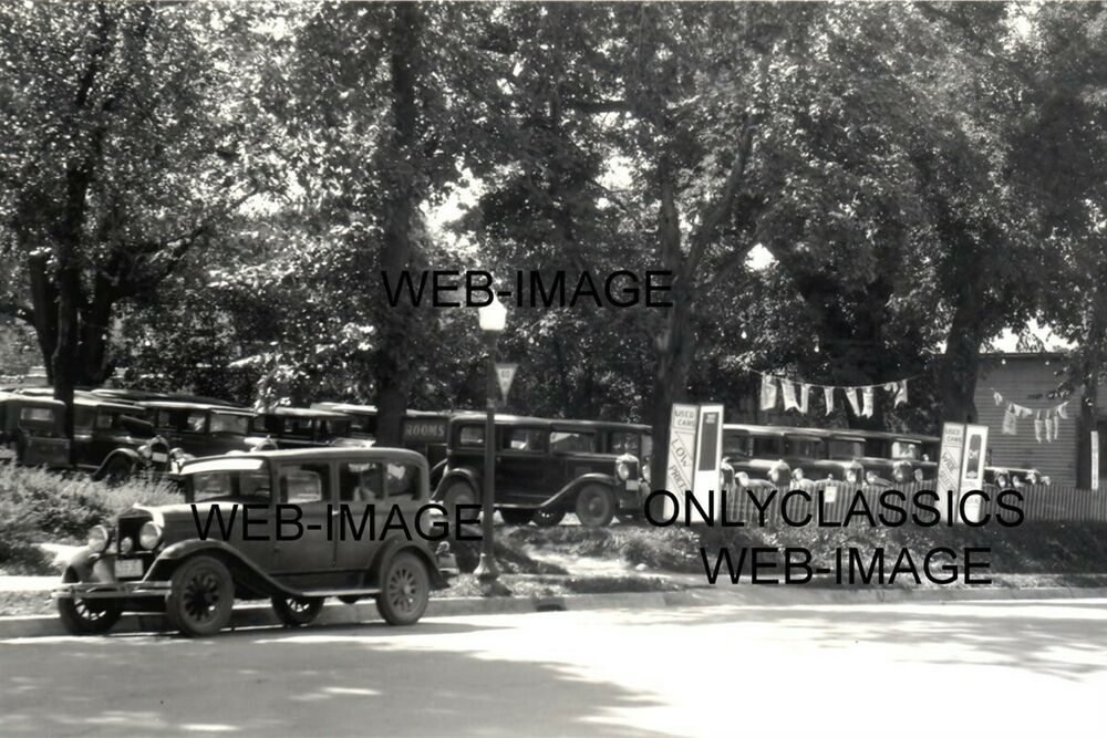 1936 used car dealer lot vintage auto sales photo automobilia hot rod americana ebay. Black Bedroom Furniture Sets. Home Design Ideas