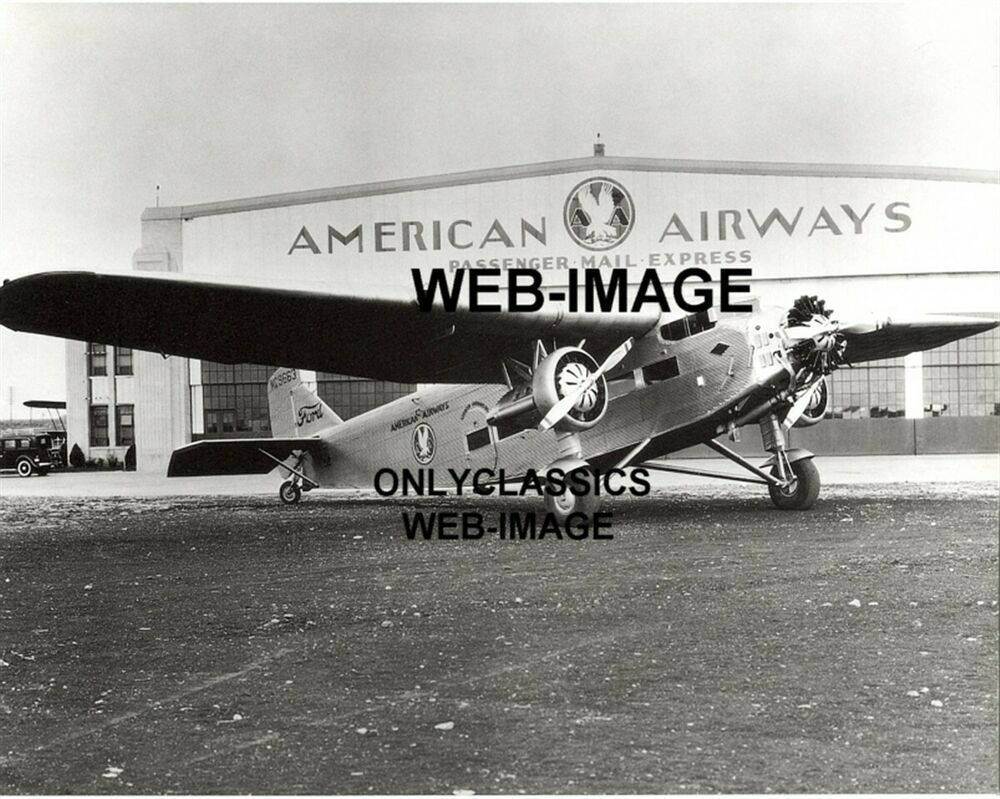Ford Fort Worth >> 1933 AMERICAN AIRLINES FORD TRIMOTOR AIRPLANE PHOTO MEACHAM FIELD TX AVIATION | eBay