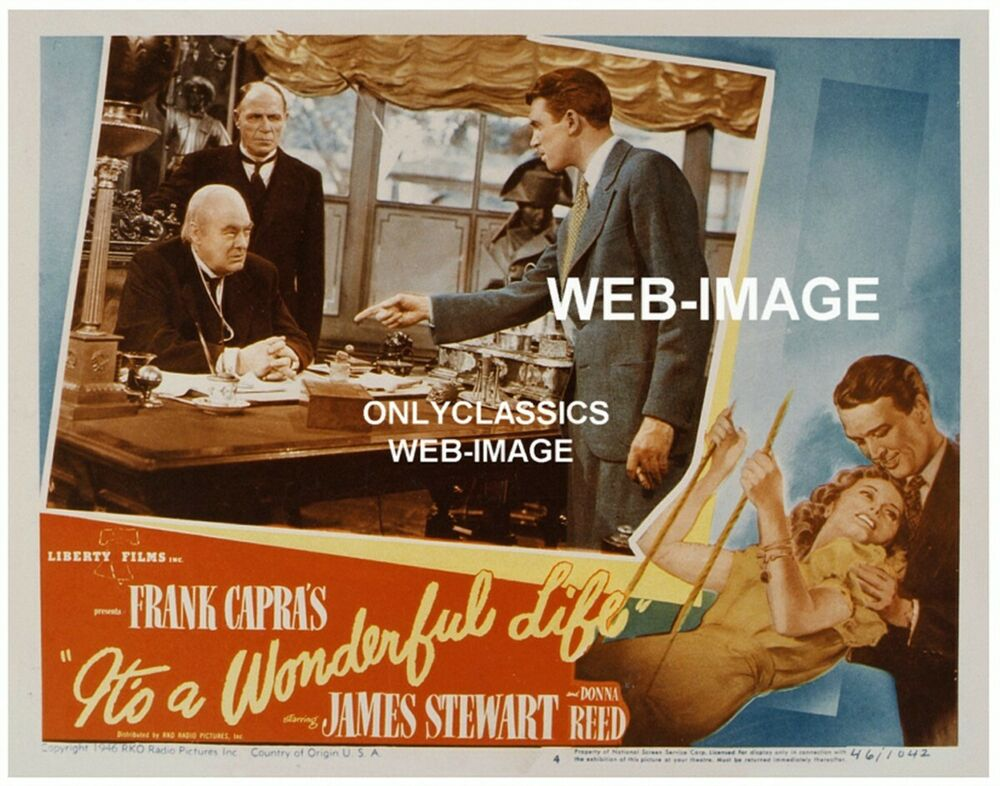 Frank Capra 39 S It 39 S A Wonderful Life Lobby Movie Poster James Stewart Donna Reed Ebay