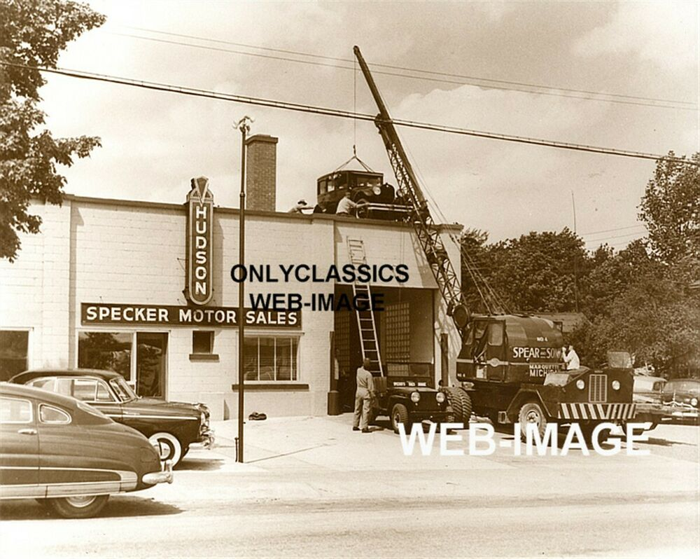 Used Truck Dealerships >> 1950's HUDSON AUTO DEALER NEW & USED CAR SALES PHOTO ...