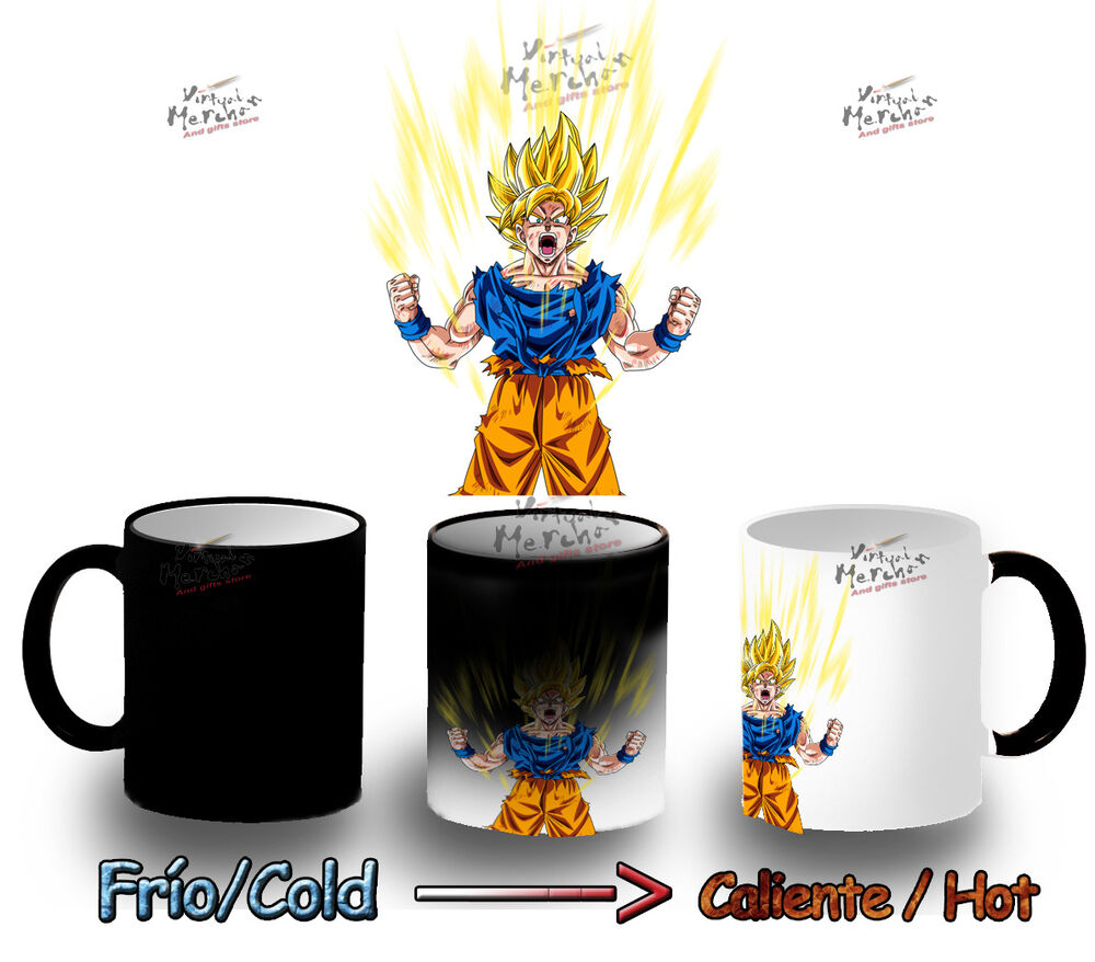 mug heat reactive magic son goku dragon ball z cup tazza. Black Bedroom Furniture Sets. Home Design Ideas
