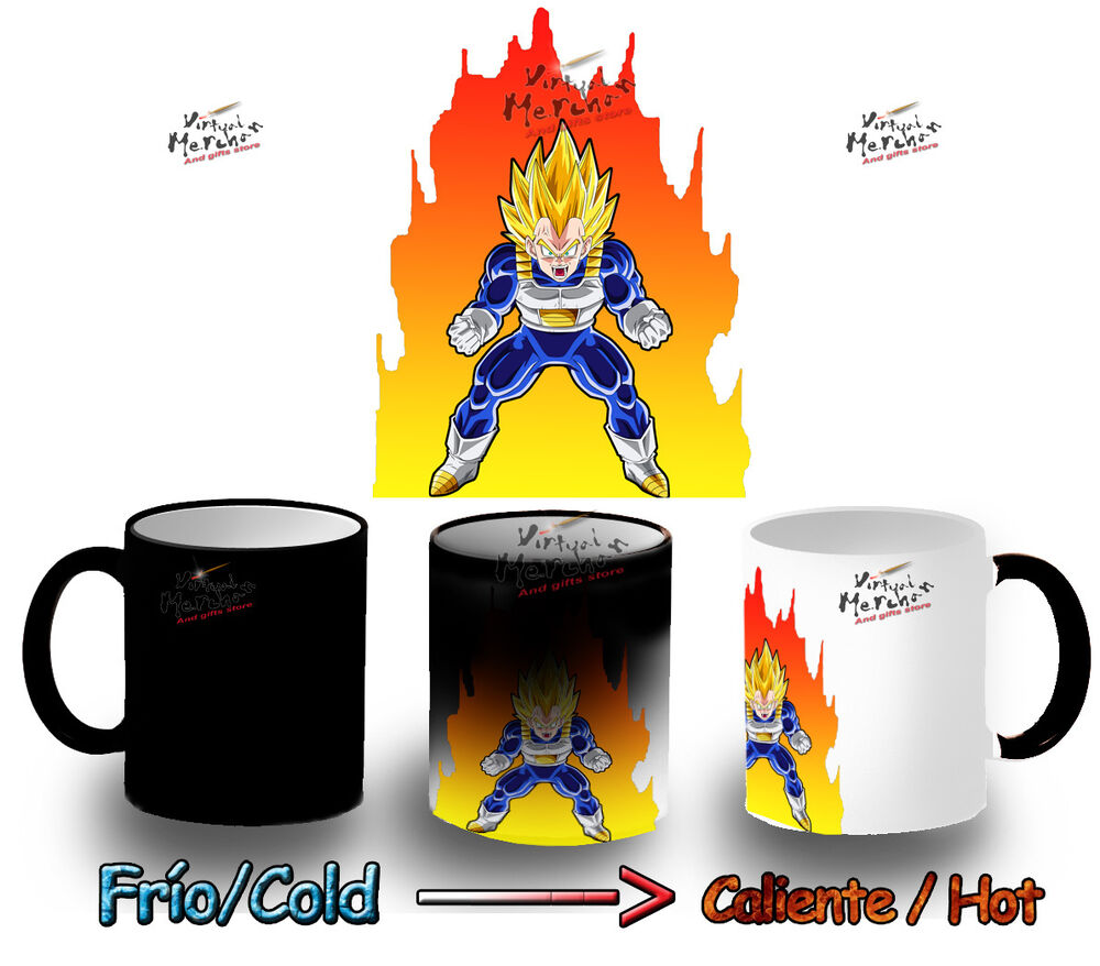 mug heat reactive magic vegeta saiyan dragon ball z tazza. Black Bedroom Furniture Sets. Home Design Ideas