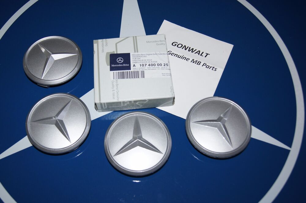 Mercedes benz genuine wheel center hub caps emblem for Mercedes benz wheel cap emblem