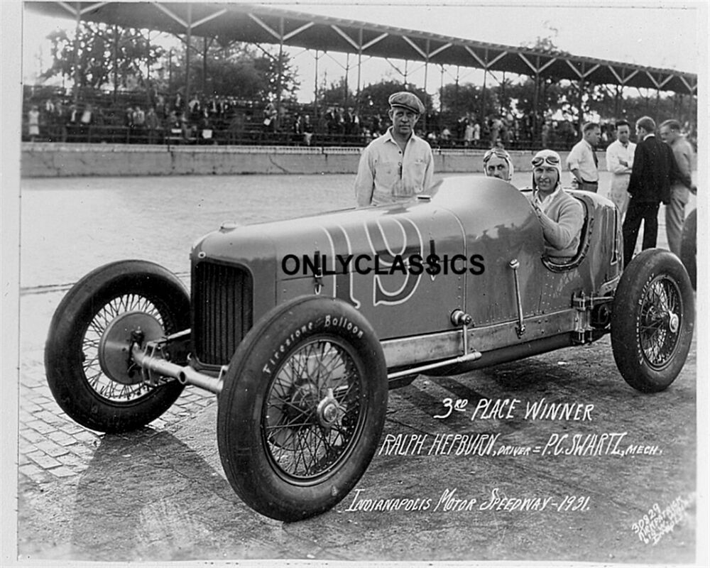1931 ralph hepburn indy 500 motor speedway auto racing old for Indianapolis motor speedway clothing
