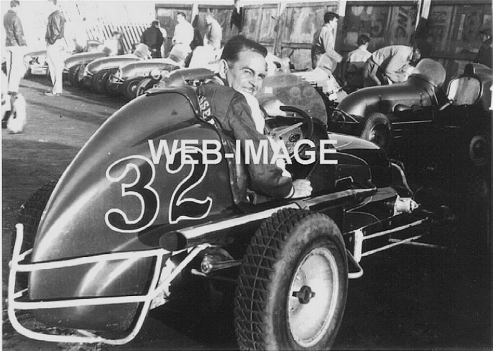 1949 mel hanson in chet miller midget dirt auto racing for Motor city performance plus