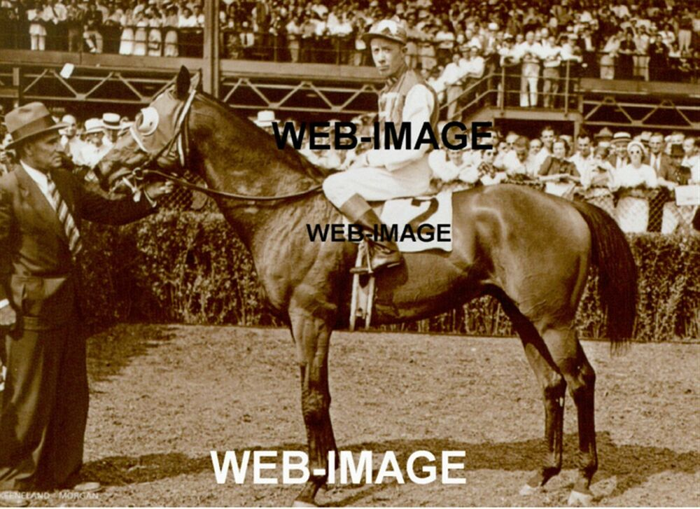 1937 Seabiscuit Thoroughbred Horse Racing Red Pollard