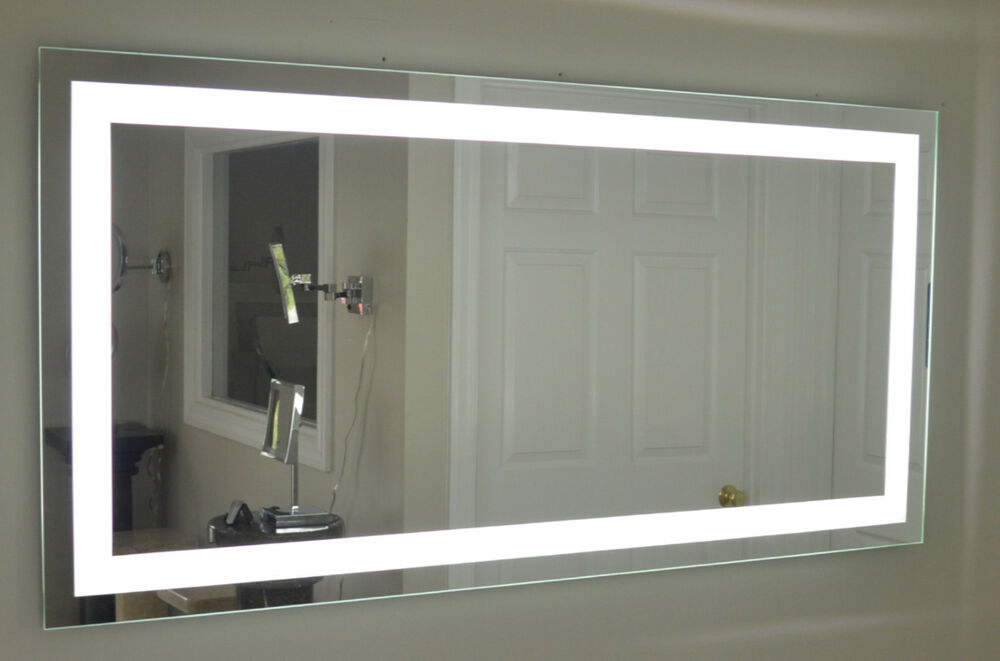 mam87236 72 w x 36 t lighted vanity mirror wall mounted led makeup mirror ebay