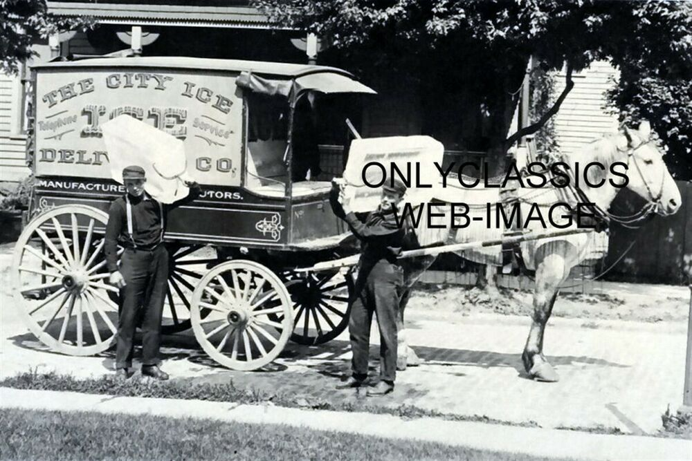 1906 THE CITY ICE CART HORSE AND CARRIAGE DELIVERY TRUCK ...