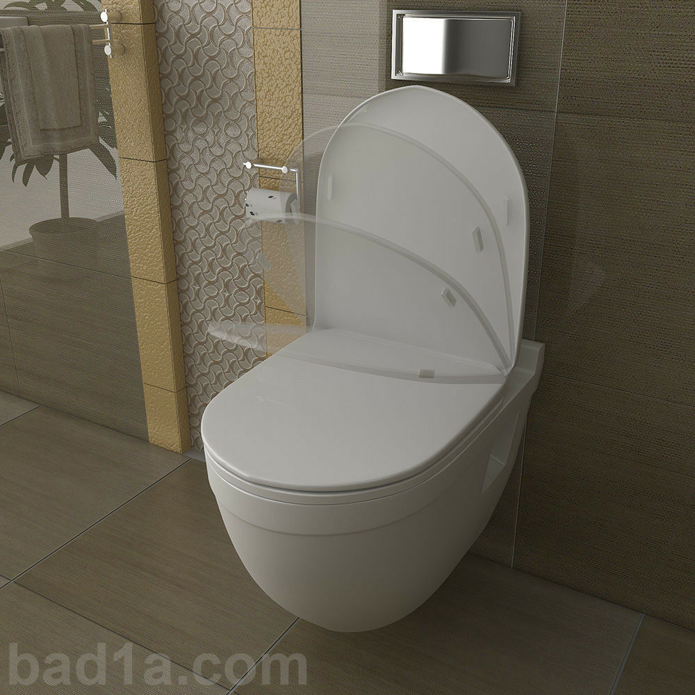 toilettendeckel design wc sitz deckel mit absenkautomatik softclose funktion ebay. Black Bedroom Furniture Sets. Home Design Ideas