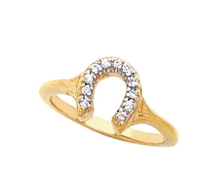 horseshoe ring 14k yellow gold si2 gh color