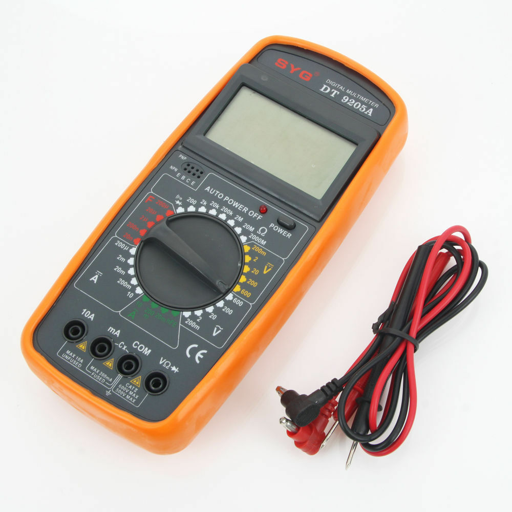 Newest Digital Multimeter DT9205A Voltmeter Ohmmeter ...