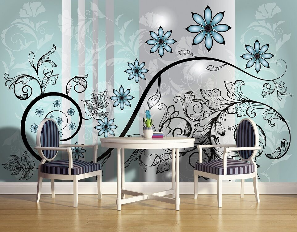 Large Wall Mural Wallpaper For Bedroom Living Room Blue