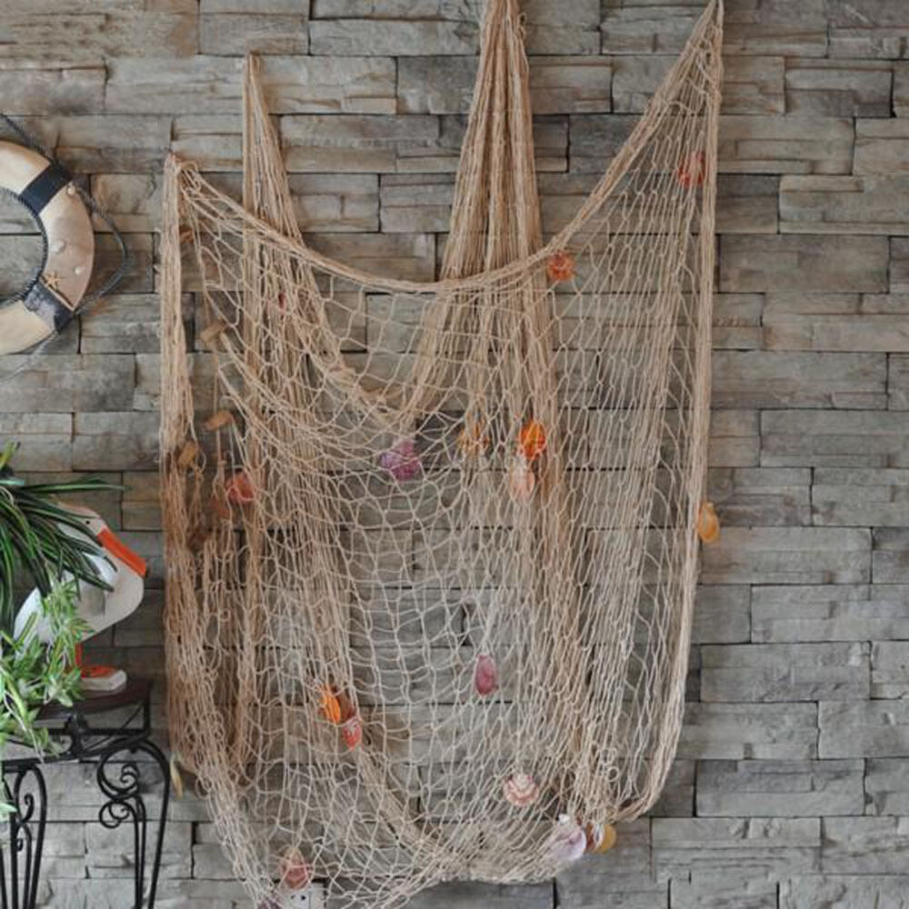 fishing net sea shell starfish hanging home wall