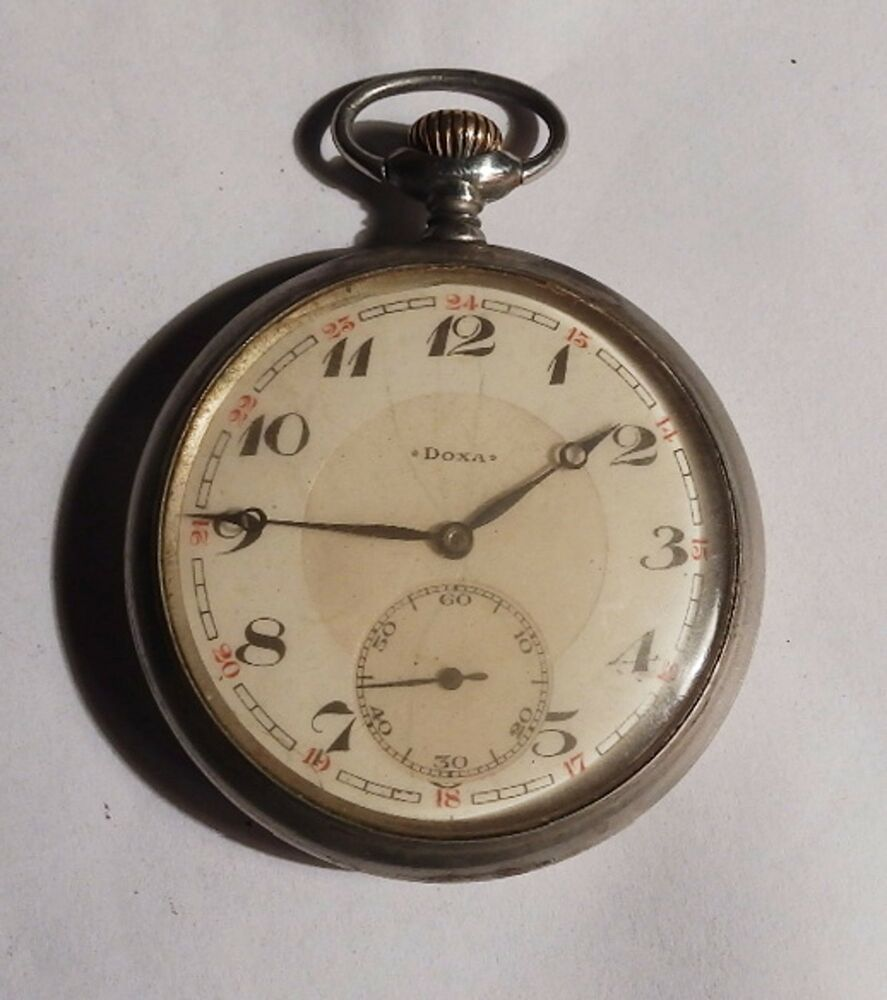 Vintage pocket watch doxa swiss made 2 ebay for Swiss made watches