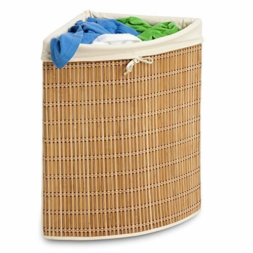Laundry Hamper Wicker Bamboo Large Clothes Bin Storage Basket Organizer Bedroom Ebay